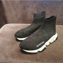 Balenciaga/巴黎世家 新款弹力帆布厚底袜子鞋男女休闲运动高帮鞋