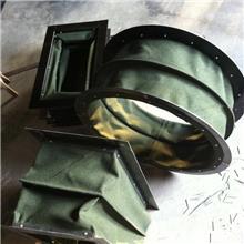 帆布风机软连接 下料口通风管  伸缩式硅胶布耐高温防火软连接