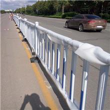 济宁广告牌道路隔离护栏 隔离铁马锌钢护栏 固定式隔离护栏 加工厂家