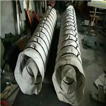 内衬钢丝圈耐磨帆布袋 扁钢加吊环伸缩布袋 内外一体连帆布袋制作工艺