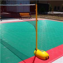 户外羽毛球网架 简易地上固定式羽毛球柱 室外地插式羽毛球网柱