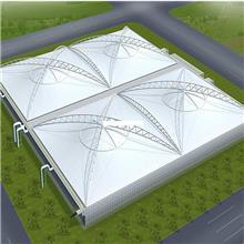膜结构停车棚单排汽车车棚小区自行车棚户外钢结构张拉膜景观棚