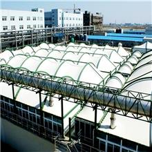 膜结构景观棚户外体育看台棚汽车棚遮阳棚PVDF张拉膜钢膜布棚