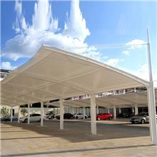 pvc膜布加工张拉膜景观膜自行车停车棚汽车棚膜结构车棚定做安装