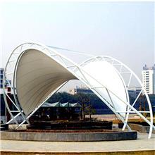 膜结构汽车棚遮阳停车车棚张拉膜景观篷钢结构电动车雨棚厂家直销