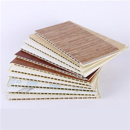 竹木纤维集成墙板全屋装饰护墙板客厅快装集成板防水生态木扣板材_生产厂家