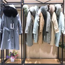 皮草派克服直播摆地摊 品牌女装尾货批发 冬季女装一手货源