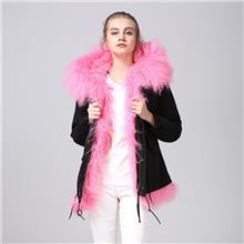 新品黑色真毛皮草外套 粉色滩羊毛短款 来自星星的你同款女皮草