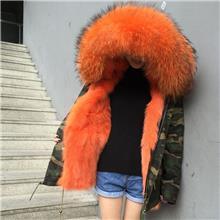 派克狐狸内胆皮草  千颂伊同款  秋冬  迷彩短款外套