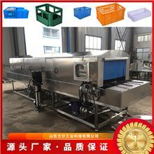 厂家供应周转箱清洗机 全自动食品筐清洗机 热水循环喷淋洗筐机