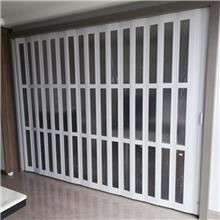 定做商铺门 PVC折叠门 推拉开放式厨房移门 室内隔断吊轨折叠门