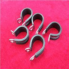 铁镀锌连胶条卡箍 管夹R型喉箍 天津明哲紧固件直销