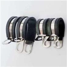 连胶条线夹 强度高减震型包胶单管夹 R型铁镀锌卡箍 天津明哲紧固件直销