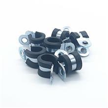 R型软管线夹电线电缆线卡 铁镀锌连胶条卡箍强度高 天津明哲紧固件直销