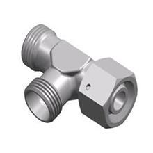 弯头直角组合液压过渡接头 DIN卡套式组合连接过渡接头 螺母组合接头