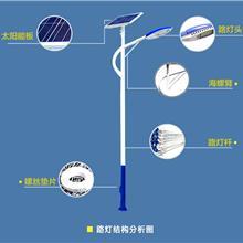 免布线0电费太阳能路灯户外灯新农村6米7米超亮led全套锂电高杆灯