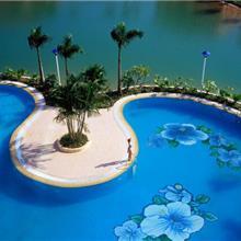 度假区泳池马赛克拼花别墅家用陶瓷马赛克瓷砖贴图