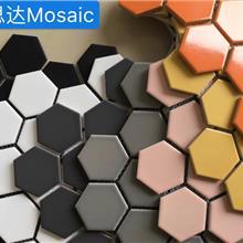 六边23*27mm马赛克瓷砖规格厨卫装饰陶瓷砖厂家