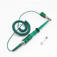 汽车电路测量弹簧线 通用检修工具电笔 便携式铜电笔带指示灯