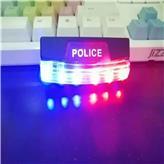 LED肩灯 安全灯信号 救生 肩夹式 红蓝爆闪灯