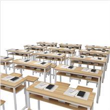 课桌椅厂家价格 云南学校家具课桌椅 培训班学生桌椅 云飞