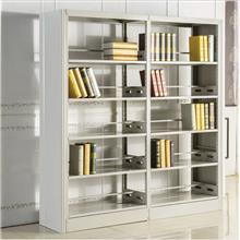 云南书架厂家 现货销售双面书架 钢制书架批发价格 学校家具