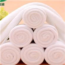 包邮洗浴专用毛巾 美容院足疗毛巾酒店白色纯棉毛巾 logo刺绣面巾