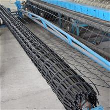 茂名80KN钢塑土工格栅加筋带挡土墙 钢塑复合塑玻土工格栅抗拉伸