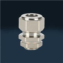 新款硅胶型金属电缆防水接头连接器黄铜镀镍接头M16质量保证