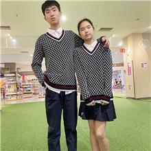 定制秋季新款毛衣  情侣装  男女生针织衫  加厚外套  学生礼服  表演服加工
