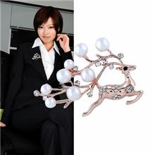 韩版时尚合金胸针饰品动物仿珍珠水钻衣饰胸花女服装配饰别针批发