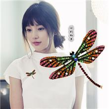 韓版時尚蜻蜓胸針飾品女式服裝配飾別針衣飾合金胸花廠家貨源批發