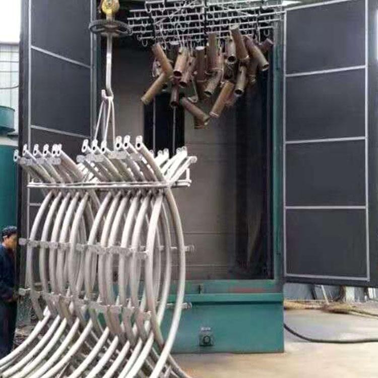 挂钩式抛丸机 钢丸清理机器 弯头铸件抛丸除锈清理机 厂家供应