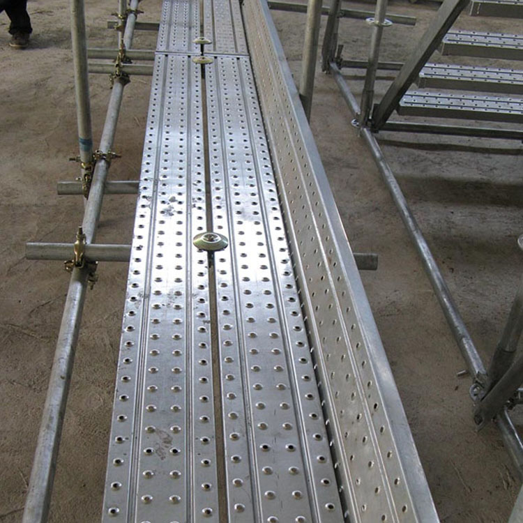 钢制脚手架踏步板 热镀锌钢跳板 冲孔挂钩船用钢跳板 质量放心