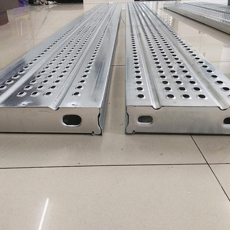 钢制脚手架踏步板 挂钩式钢跳板 挂钩式建筑钢跳板 价格合理