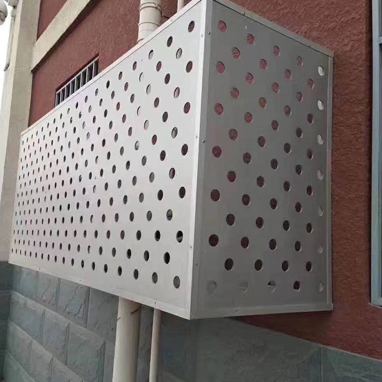 冲孔空调罩 空调罩价格 杰发金属批发 金属板空调罩 按时发货