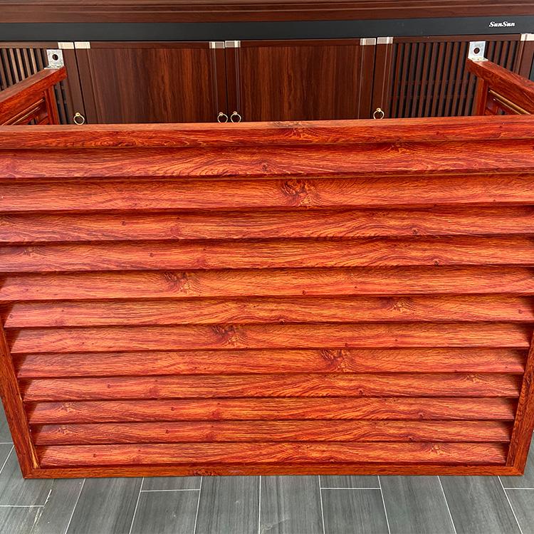可调节电动百叶窗 生产 木纹转印百叶窗 防雨百叶窗 支持定制