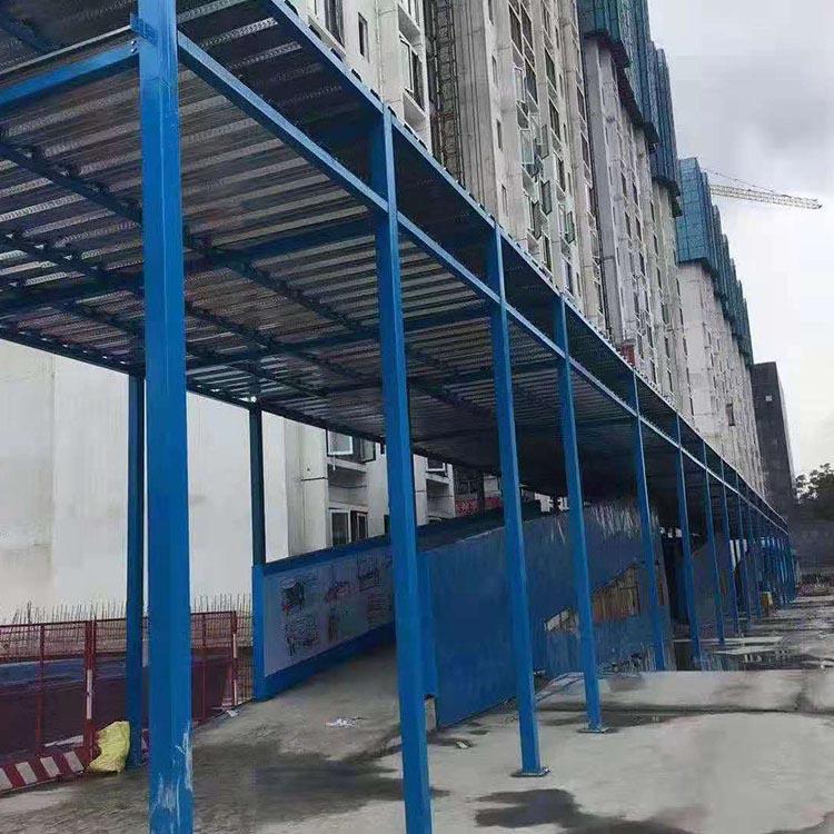 钢筋加工棚 建筑施工钢筋防护棚 直供 移动钢筋防护棚 支持定制