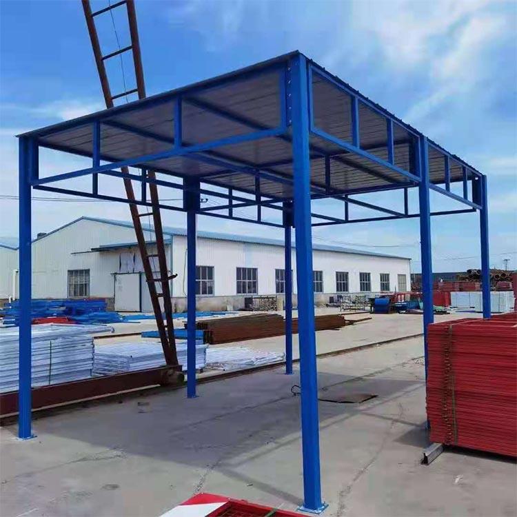 防护棚 房建现场防护棚 供应 双立柱钢筋防护棚 质量放心