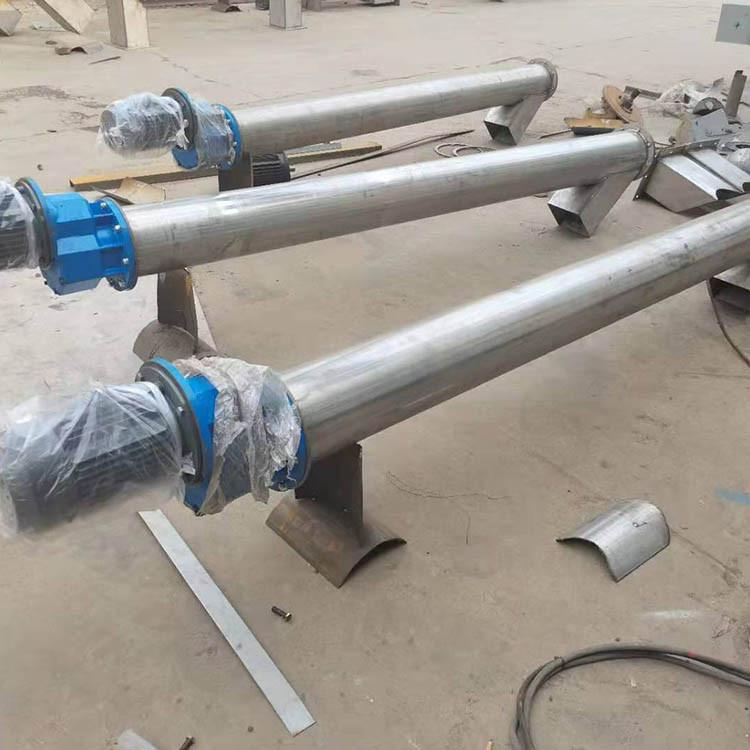 惠康生产 管式螺旋输送机 不锈钢316L输送机 螺旋输送绞龙