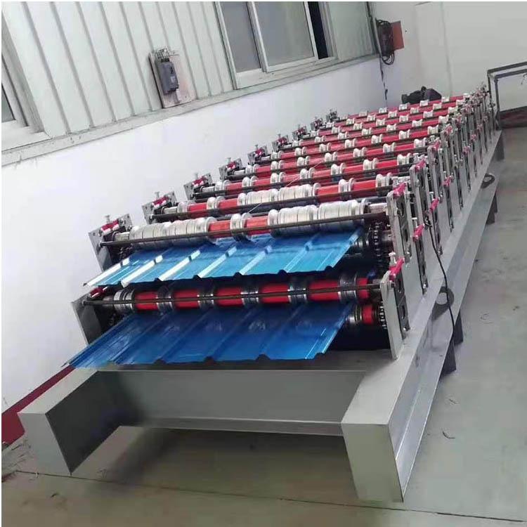双层压瓦机 竹筒琉璃瓦机 生产 彩钢板成型设备 彩钢成型设备