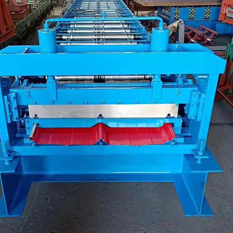 屋面瓦成型机 角驰机 震宇供应 820顶板彩钢压瓦机 金属成型机