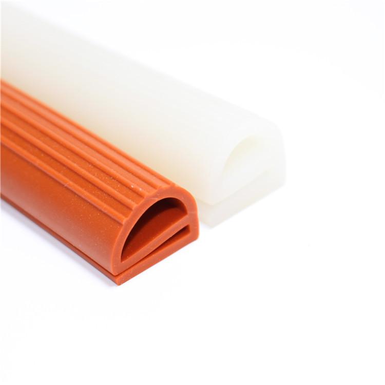 硅胶高温密封条 异形D型硅胶条 彩色硅胶密实密封条 e型蒸箱蒸柜密封条
