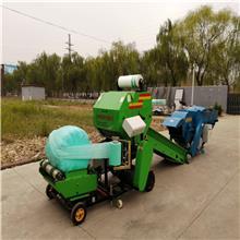 圆捆青贮打捆机 青贮裹包机械 玉米秸杆青贮打捆机