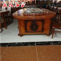 电动餐桌_康氏_大型电动圆桌_电动餐台_新中式电动圆桌