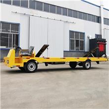 自卸电动平板车 加长单边型材运输车 电动工具运输车 山东汉柯
