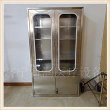 不锈钢对开门通玻器械柜 不锈钢无菌麻醉柜 四门双抽针剂柜