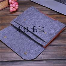 居家毛毡笔记本包  14寸苹果笔记本电脑袋ipad平板电脑包 厂家定制