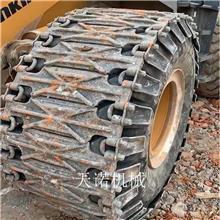 厦工50铲车用轮胎防滑链 32节装载机锻打履带板 天诺机械二代新品