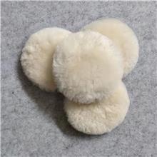 厂家直销自粘羊毛球镜面抛光羊毛轮汽车美容抛光盘加厚羊毛垫7寸